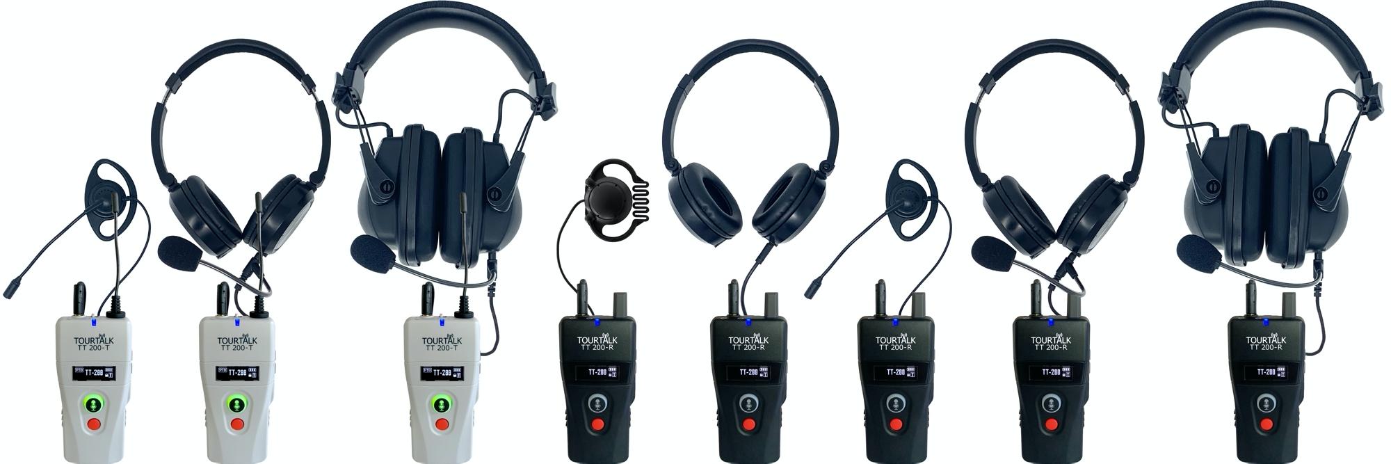 Tourtalk TT 200-T and TT 200-R headsets example