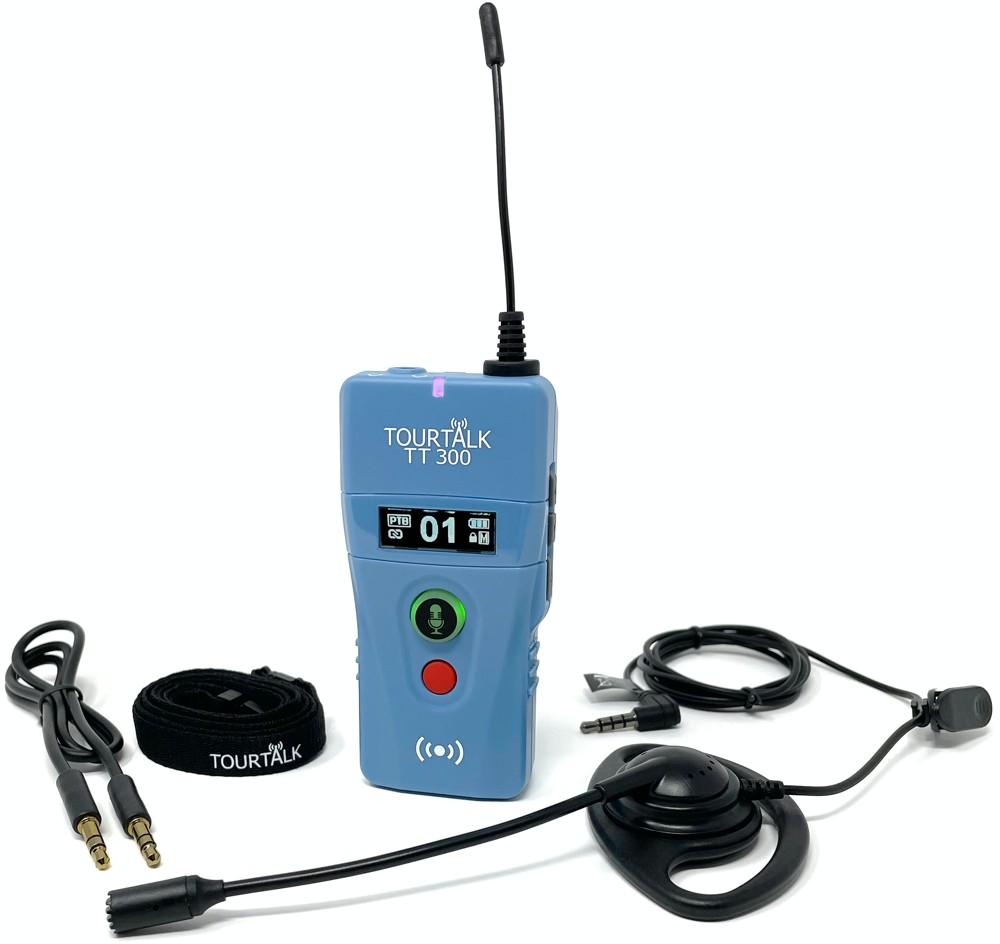 Tourtalk TT 300 transceiver with accessories