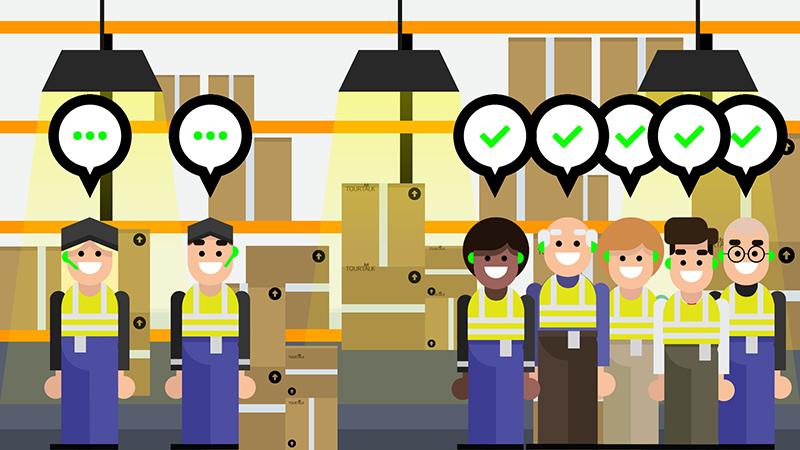 Tourtalk system factory tour example