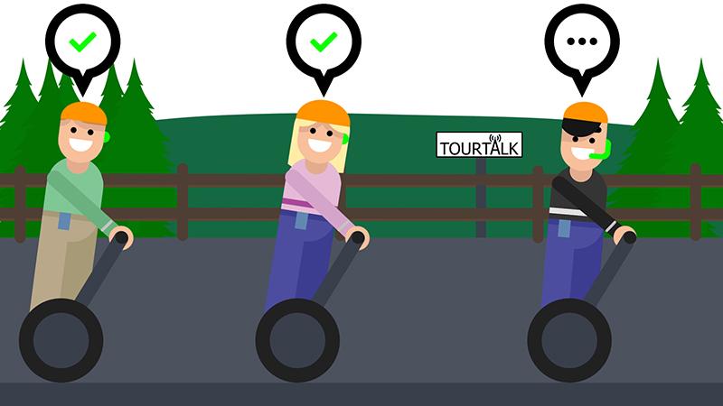 Tourtalk system segway tour example