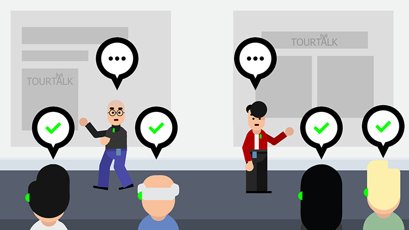 Tourtalk system silent conference example